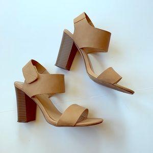 Breckell's tan heel sandals-9